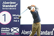 Suh Oh starts her round at the Aberdeen Standard Investments Ladies Scottish Open 2018 at Gullane Golf Club, Gullane, Scotland on 28 July 2018. Picture by Kevin Murray.