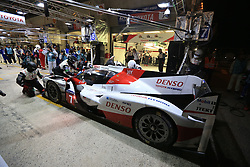 June 18, 2017 - Le Mans, Sarthe, France - Toyota Racing Toyota TS050 Hybrid rider KAZUKI NAKAJIMA (JPN) in the pit lane for refueling during the race of the 24 hours of Le Mans on the Le Mans Circuit - France (Credit Image: © Pierre Stevenin via ZUMA Wire)