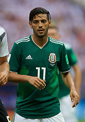 MOSCOW, RUSSIA - Sunday, June 17, 2018: Mexico's Carlos Vela during the FIFA World Cup Russia 2018 Group F match between Germany and Mexico at the Luzhniki Stadium. (Pic by David Rawcliffe/Propaganda)