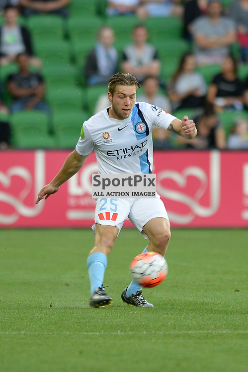 Jacob Melling of Melbourne City - Hyundai A-League, January 9th 2016, RD14 match between Melbourne City FC v Western Sydney Wanderers FC at Aami Park in a 3:2 win to City. Melbourne, Australia. © Mark Avellino | SportPix.org.uk
