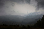 A view during a stormy day over the Bwindi Impenetrable Forest in Western Uganda.