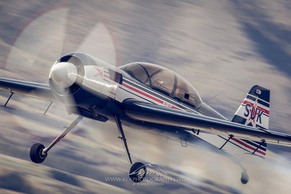 Aerobatic pilot Rob Frys at Warbirds over Wanaka 2016, New Zealand