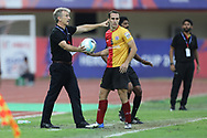 Albert Roca head coach of Bengaluru FC during the final of the Hero Super Cup between East Bengal FC and Bengaluru FC held at the Kalinga Stadium, Bhubaneswar, India on the 20th April 2018<br /> <br /> Photo by: Arjun Singh / SPORTZPICS