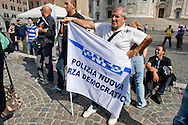 Roma 6 Settembre 2014<br />  Prima manifestazione nazionale &quot;Orgoglio Italiano&quot;.<br /> Per dire basta allo stupro della nostra patria, all' illeggittimit&agrave; della classe politica, per chiedere le dimissioni del governo, e la chiusura immediata delle frontiere italiane. Il sindacato di polizia &quot;Polizia Nuova Forza Democratica&quot; partecipa alla protesta e protestando per il blocco degli stipendi.<br /> Rome September 6, 2014 <br />  First national demostration  &quot;Italian Pride&quot;. <br /> To say stop the rape of our country, to illegitimacy of the political class, to demand the resignation of the government, and the immediate closure of the Italian borders. The police union &quot;Police New Democratic Force&quot; took part in the demostration  for protesting the blocking of wages.