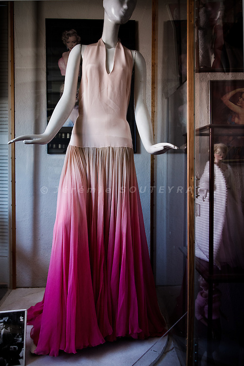"Los Angeles, April 7 2012 - In his house, Greg Schreiner's collection of items related to Marilyn Monroe. The dress used for the movie ""Let's make love"" with Yves Montand."
