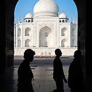 Taj Mahal from Jawab's door.