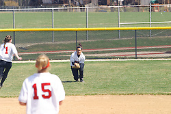 05 April 2008:  The Carthage College Lady Reds lost the first game of this double header to the Titans of Illinois Wesleyan 4-1 at Illinois Wesleyan in Bloomington, IL