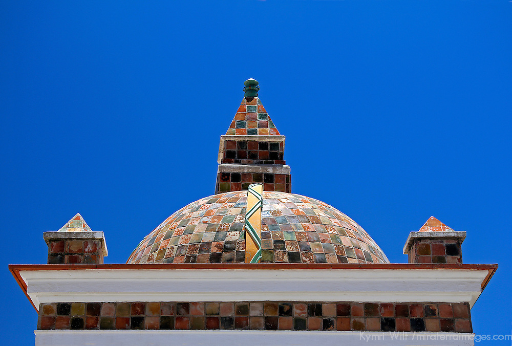 South America, Bolivia, Copacabana. Basilica of Our Lady of Copacabana dome roof.