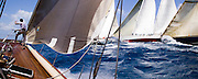 W Class White Wings racing at the Antigua Classic Yacht Regatta