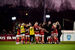 Bristol City Women huddle after the final whistle of the match - Mandatory by-line: Ryan Hiscott/JMP - 19/01/2020 - FOOTBALL - Stoke Gifford Stadium - Bristol, England - Bristol City Women v Liverpool Women - Barclays FA Women's Super League