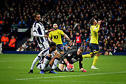 Blackburn Rovers midfielder Joe Rothwell (8) rues this miss during the EFL Sky Bet Championship match between West Bromwich Albion and Blackburn Rovers at The Hawthorns, West Bromwich, England on 27 October 2018.