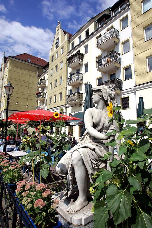 GERMANY - BERLIN - The Nikolaiviertel. PHOTO GERRIT DE HEUS