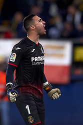 January 4, 2019 - Villarreal, Castellon, Spain - Asenjo of Villarreal celebrates the goal of his team during the week 17 of La Liga match between Villarreal CF and Real Madrid at Ceramica Stadium in Villarreal, Spain on January 3 2019. (Credit Image: © Jose Breton/NurPhoto via ZUMA Press)