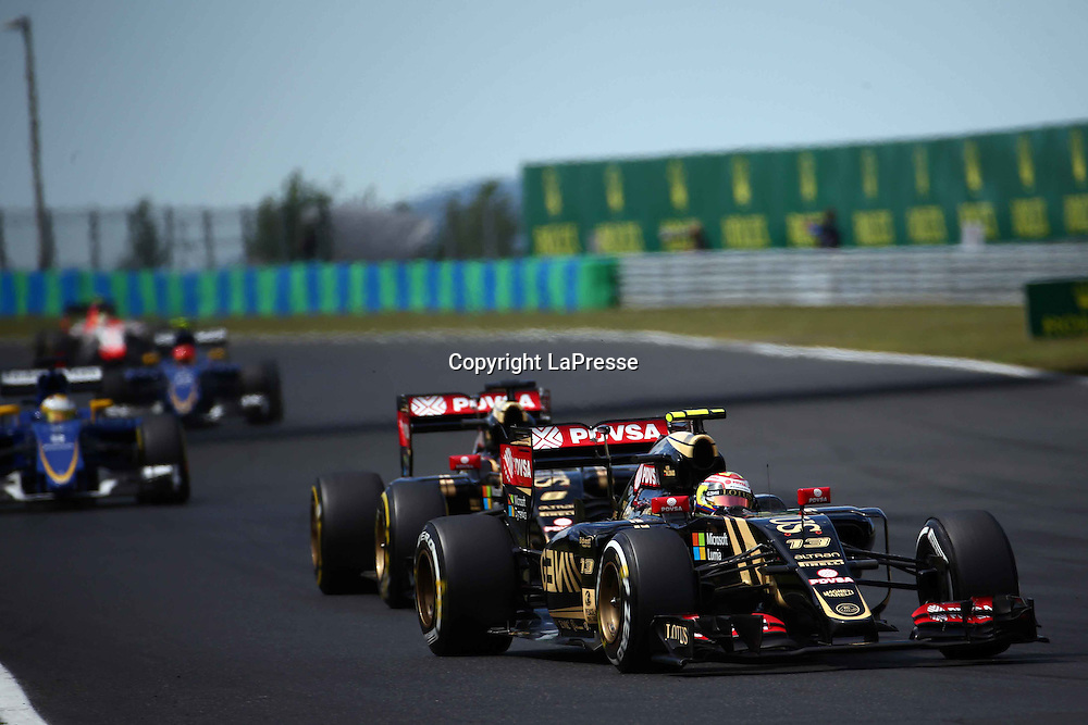 &copy; Photo4 / LaPresse<br /> 26/07/2015 Budapest, Hungary<br /> Sport <br /> Grand Prix Formula One Hungary 2015<br /> In the pic:Pastor Maldonado (VEN) Lotus F1 Team E23