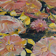 Water Lilies acrylic painting.