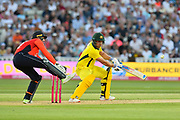 Aaron Finch of Australia batting during the International T20 match between England and Australia at Edgbaston, Birmingham, United Kingdom on 27 June 2018. Picture by Graham Hunt.