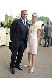 CHARLIE GORDON-WATSON and his wife KATE REARDON at Day 1 of the 2013 Royal Ascot Racing Festival at Ascot Racecourse, Ascot, Berkshire on 18th June 2013.