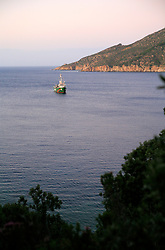ITALY ISLA DEL GIGLIO 17OCT08 - The Greenpeace ship Arctic Sunrise lies anchored off  the Isola del Giglio in the Mediterranean.....jre/Photo by Jiri Rezac / GREENPEACE