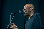 Geno Washington and the Ram Jam Band play the floating stage - Henley Festival is a boutique event over five days celebrating the best of UK & international music and arts with a programme from pop to world music, classical to jazz, blues to jazz musicians, where art, comedy and gastronomy share equal billing with music.