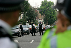 UK ENGLAND LONDON 22JUL05 - Metropolitan Police have cordoned off following an incident on a No. 18 bus on the Harrow Road. Apparently shots were fired as two suspected bombers fled the scene...jre/Photo by Jiri Rezac ..© Jiri Rezac 2005..Contact: +44 (0) 7050 110 417.Mobile:  +44 (0) 7801 337 683.Office:  +44 (0) 20 8968 9635..Email:   jiri@jirirezac.com.Web:    www.jirirezac.com..© All images Jiri Rezac 2005 - All rights reserved.