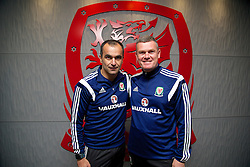 CHEPSTOW, WALES - Friday, May 23, 2014: Everton manager Roberto Martinez and coach Craig Gill during the Football Association of Wales' National Coaches Conference 2014 at Dragon Park FAW National Development Centre. (Pic by David Rawcliffe/Propaganda)