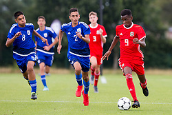 WREXHAM, WALES - Tuesday, August 13, 2019: Wales' Japhet Matondo during the UEFA Under-15's Development Tournament match between Wales and Cyprus at Colliers Park. (Pic by Paul Greenwood/Propaganda)