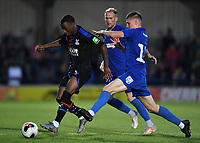 Football - 2019 / 2020 pre-season friendly - AFC Wimbledon vs. Crystal Palace<br /> <br /> Crystal Palace's Giovanni McGregor holds off the challenge from AFC Wimbledon's Jack Rudoni, at Kingsmeadow Stadium.<br /> <br /> COLORSPORT/ASHLEY WESTERN