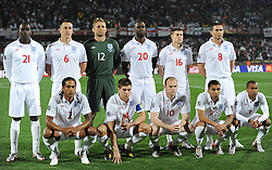 12.06.2010, Royal Bafokeng Stadium, Rustenburg, RSA, FIFA WM 2010, England (ENG) vs USA (USA), im Bild The England starting line up Heskey,Terry, Green,King,Milner,Lmapard,Johnson,Gerrard,Rooney, Lennon & Cole England v USA, EXPA Pictures © 2010, PhotoCredit: EXPA/ IPS/ Mark Atkins / SPORTIDA PHOTO AGENCY