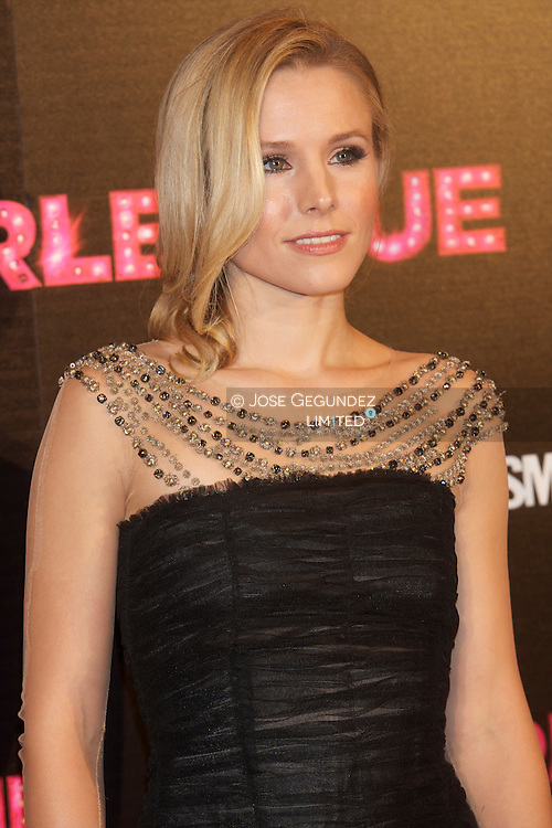 Actress Kristen Bell attends 'Burlesque' premiere at Callao cinema on December 9, 2010 in Madrid, Spain.