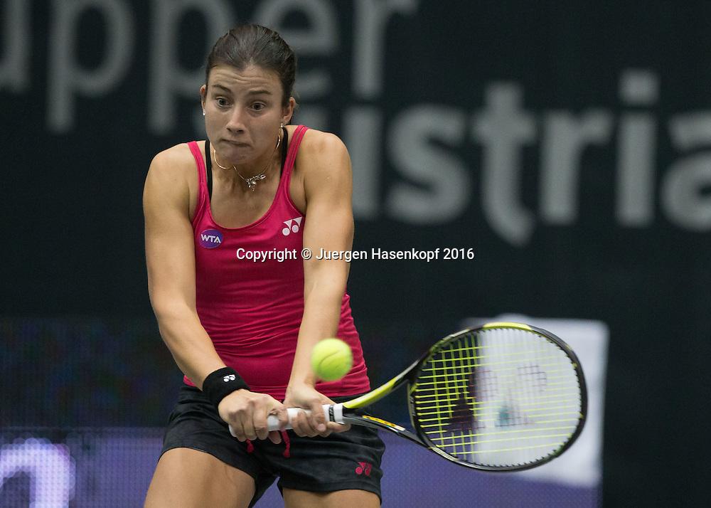 ANASTASIJA SEVASTOVA (LAT)<br /> <br /> Tennis - Ladies Linz 2016 - WTA -  TipsArena  - Linz - Oberoesterreich - Oesterreich - 10 October 2016. <br /> &copy; Juergen Hasenkopf