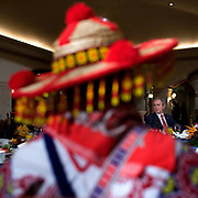 President George W. Bush takes part in a breakfast Wednesday, March 14, 2007.  <br /> <br /> Photo by Khue Bui
