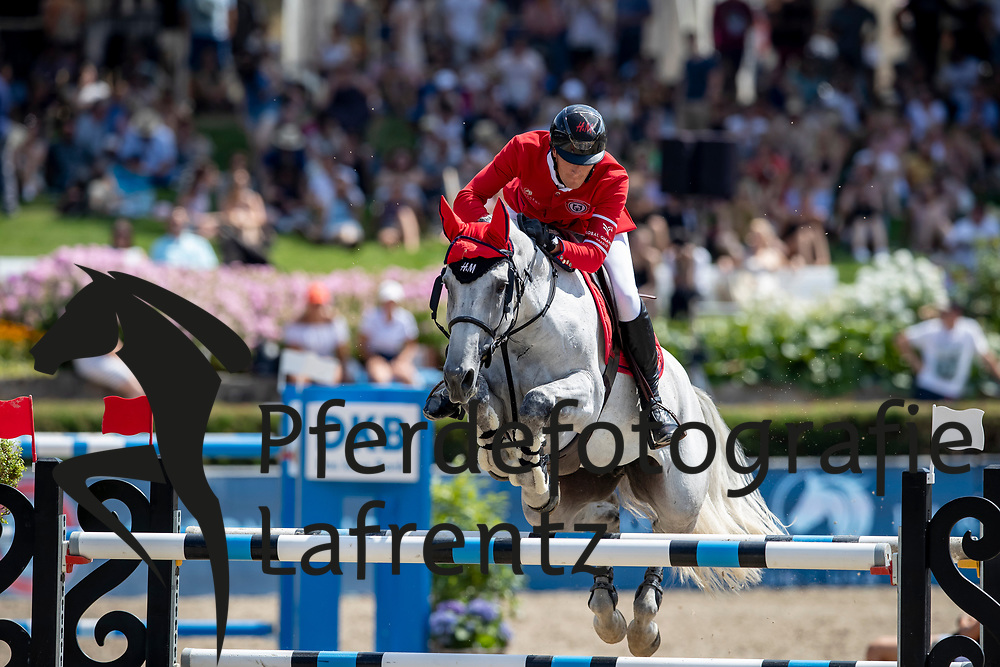 PHILIPPAERTS Olivier (BEL), H&M Legend of Love<br /> Berlin - Global Jumping Berlin 2018<br /> 2. Wertung für Global Champions League<br /> 28. Juli 2018<br /> © www.sportfotos-lafrentz.de/Stefan Lafrentz
