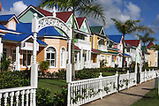 painted Wooden houses in Samana resort, Dominican Republic
