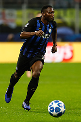 November 7, 2018 - Milan, Italy - Kwadwo Asamoah of Inter Milan in action during the Group B match of the UEFA Champions League between FC Internazionale and FC Barcelona on November 6, 2018 at San Siro Stadium in Milan, Italy. (Credit Image: © Mike Kireev/NurPhoto via ZUMA Press)