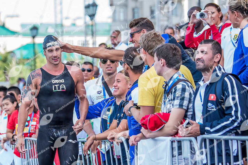 VANELLI Federico ITA<br /> Open Water 10km Men - Kazanka River<br /> Day04 27/07/2015<br /> XVI FINA World Championships Aquatics Swimming<br /> Kazan Tatarstan RUS July 24 - Aug. 9 2015 <br /> Photo A.Masini/Deepbluemedia/Insidefoto