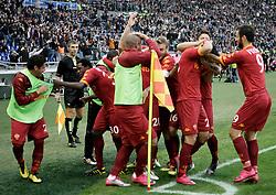 Roma, 07-11-2010 ITALY - Italian Soccer Championship Day 10 -  Lazio - Roma..Nella Foto: Il gol di Burriello (R).Photo by Giovanni Marino/OTNPhotos . Obligatory Credit