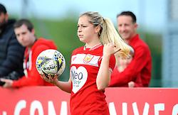 Poppy Pattinson of Bristol City takes throw in- Mandatory by-line: Nizaam Jones/JMP - 28/04/2019 - FOOTBALL - Stoke Gifford Stadium - Bristol, England - Bristol City Women v West Ham United Women - FA Women's Super League 1