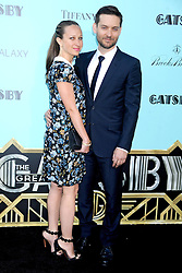 59597223  .Jennifer Meyer Maguire and Tobey Maguire at the World premiere of The Great Gatsby in Lincoln Centre for The Performing Arts, New York, USA, on May 1, 2013, May 3, 2013. Photo by: i-Images.UK ONLY