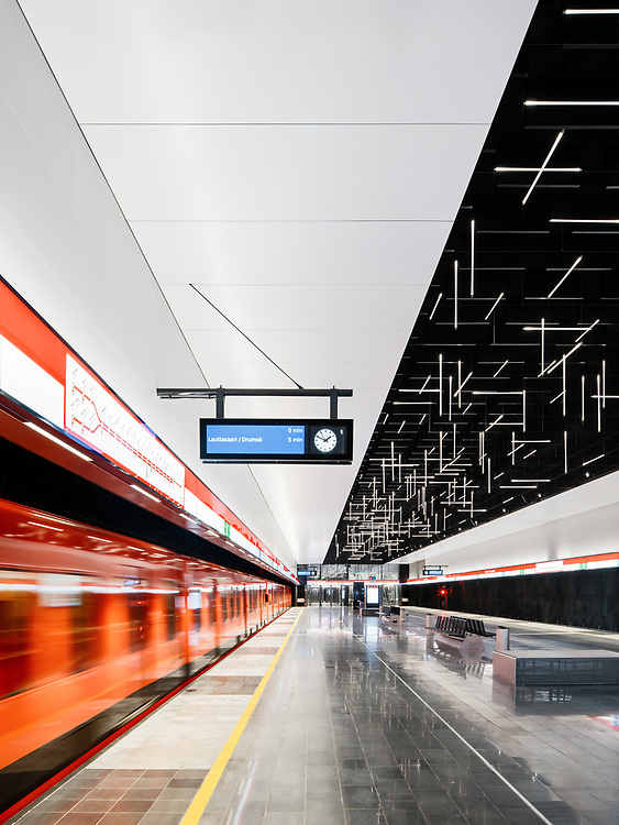 Keilaniemi metro station designed by ALA architects in construction in Espoo, Finland