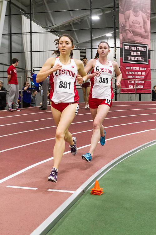 Boston University Multi-team indoor track & field, women 3000 meters, BU Saccoach, Stableford