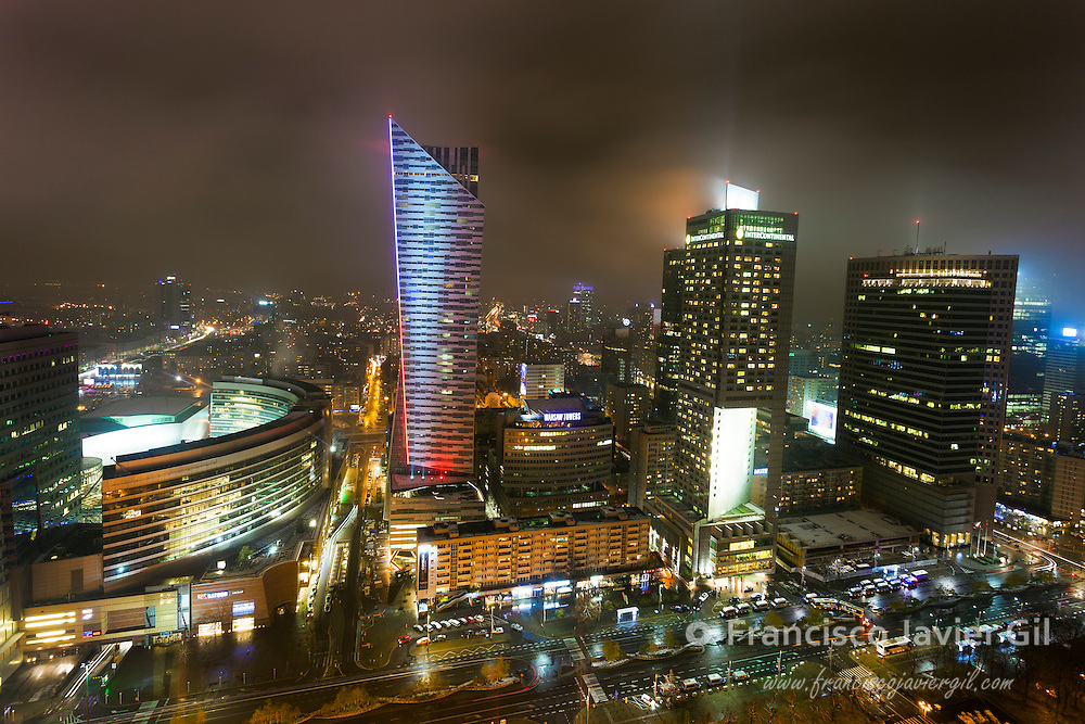 Panoramic of  Warsaw, Poland