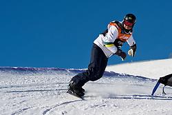 PEREIRA Andre, Banked Slalom, 2015 IPC Snowboarding World Championships, La Molina, Spain