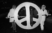 CND torchlight march, Sheffield. 17-12-1981