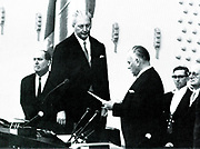 Kurt Georg  Kiesinger (1904-1988) sworn in as West German Chancellor (1966-1969).