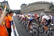 8/9/08 1:10:31 PM -- The 2008 Beijing Summer Olympics -- Beijing, China<br />  -- The Men's Cycling Road Race passes  Juyongguan portion of Great Wall.-- <br /> <br /> <br /> Photo by Jeff Swinger, USA TODAY Staff
