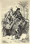 Paysans des Environs de Carcagente [Peasants from the Surroundings of CarcagentePage illustration from the book 'L'Espagne' [Spain] by Davillier, Jean Charles, barón, 1823-1883; Doré, Gustave, 1832-1883; Published in Paris, France by Libreria Hachette, in 1874