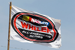 STOCKTON, CA - MAY 03:  General view of a NASCAR Whelen All-American Series flag during the NASCAR K&N Pro Series West Stockton 150 at the Stockton 99 Speedway on May 3, 2014 in Stockton, California. (Photo by Jason O. Watson/Getty Images for NASCAR) *** Local Caption ***