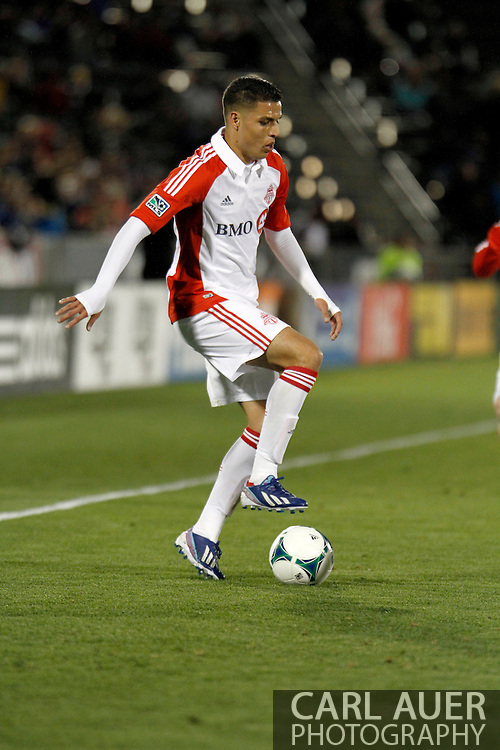 May 4th, 2013 Commerce City, CO - Toronto FC midfielder Luis Silva (11) handles the ball in the corner of the pitch during second half of the MLS match between the Toronto FC and the Colorado Rapids at Dick's Sporting Goods Park in Commerce City, CO