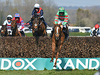 National Hunt Horse Racing - 2019 Randox Health Grand National Festival - Saturday, Day Three (Grand National Day)<br /> <br /> ist placed D N Russell on 6 Ornuain jumps The Chair in the 15.00 Doom Bar Maghull Novices' Chase (Grade 1) (Class 1) at Aintree Racecourse.<br /> <br /> COLORSPORT/WINSTON BYNORTH