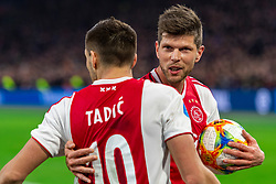 13-03-2019 NED: Ajax - PEC Zwolle, Amsterdam<br /> Ajax has booked an oppressive victory over PEC Zwolle without entertaining the public 2-1 / Dusan Tadic #10 of Ajax, Klaas Jan Huntelaar #9 of Ajax